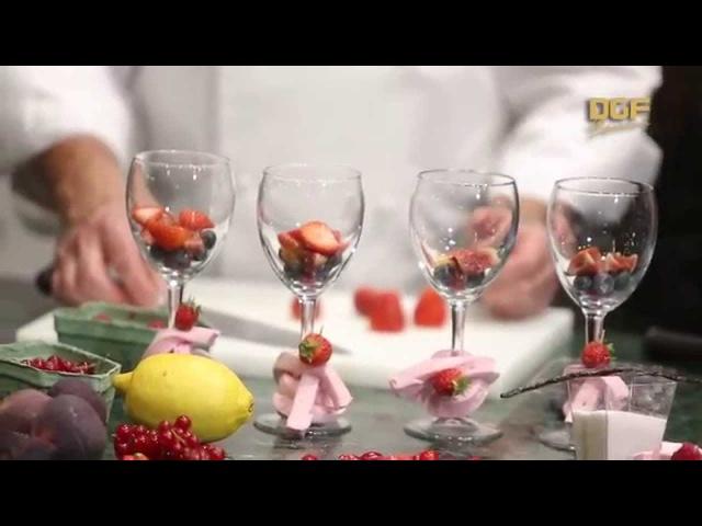 Сабайон с фруктами и ягодным сорбетом - Заза Кассашвили и Бруно Пасторелли