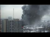 Москва. Пожар в КПМ МФТИ (18.12.2015 г.)