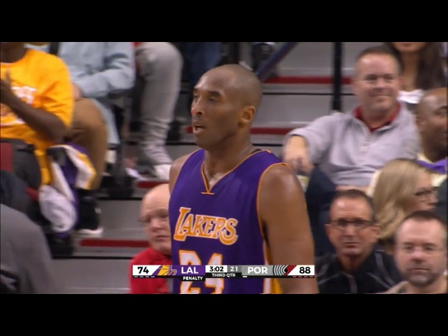 NBA - LA Lakers vs Portland Trail Blazers - Full Game Highlights - 23.01.16