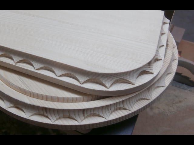 Нанесение декора на изделия из дерева Часть 2 Milling decorating the tree Part 2