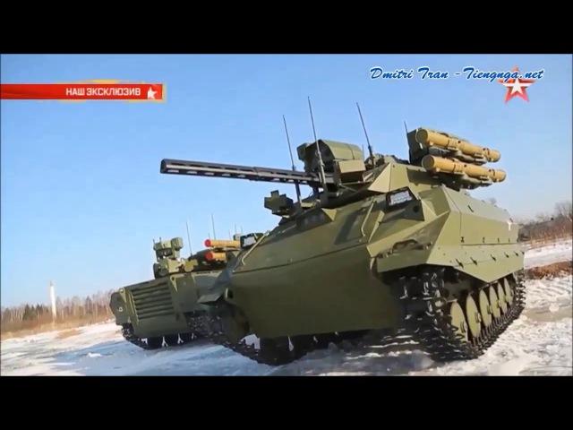 ROBOT NỒI ĐỒNG CỐI ĐÁ URAN-9 – Vũ khí mới nhất của QĐ Nga năm 2016
