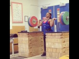 """Jenny L Arthur on Instagram: """"130kg for a double. Learning to use my legs and drive more after the dip. #patience #onedayatatime"""""""