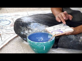 Tour of Tile making in Bazar in Isfahan, Iran - Part 3
