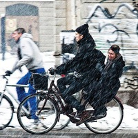 На работу на велосипеде зимой — 12.02 Петербург