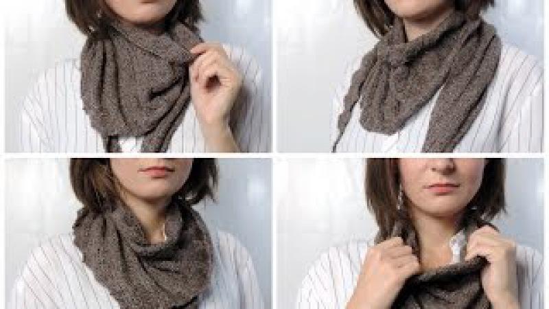 Как связать шарф бактус | Школа вязания