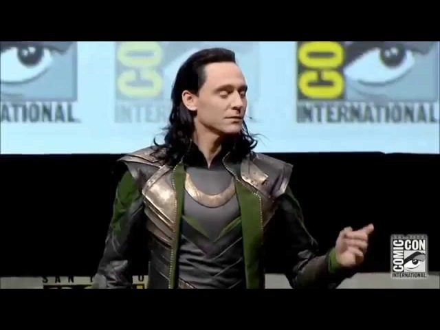 Tom Hiddleston as LOKI русские субтитры FULL appearance Comic Con 2013