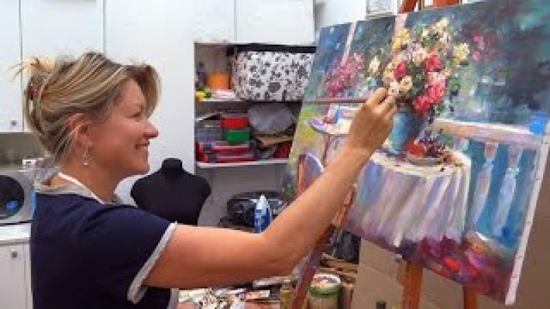Мастер-класс масляной живописи. Летний букет. Workshop oil painting from Oleg Buiko.