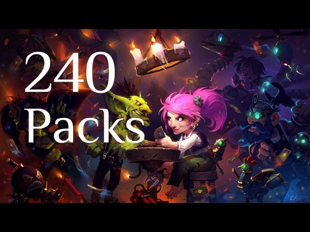 240 паков / 240 packs opening Hearthstone