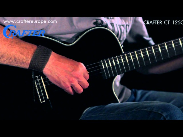 Demonstration of sound | Electro acoustic guitar Crafter CT 125C/BK