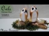 Valentine's Day Cute &amp Minimal Polymer Clay Love Owls Tutorial  Maive Ferrando