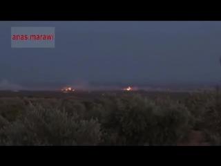 Ракеты Буратино устроили эффект цветомузыки для ИГИЛ в Сирии 2015