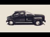 Люксовый пикап на базе грузовика ГАЗон NEXT. Краткий обзор.