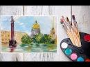 Видео урок Рисуем Гуашью Дождливый Санкт-Петербург! Dari_Art