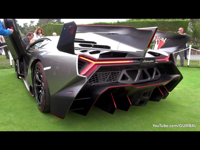 Lamborghini Veneno SOUND! Start Up Driving On The Road!