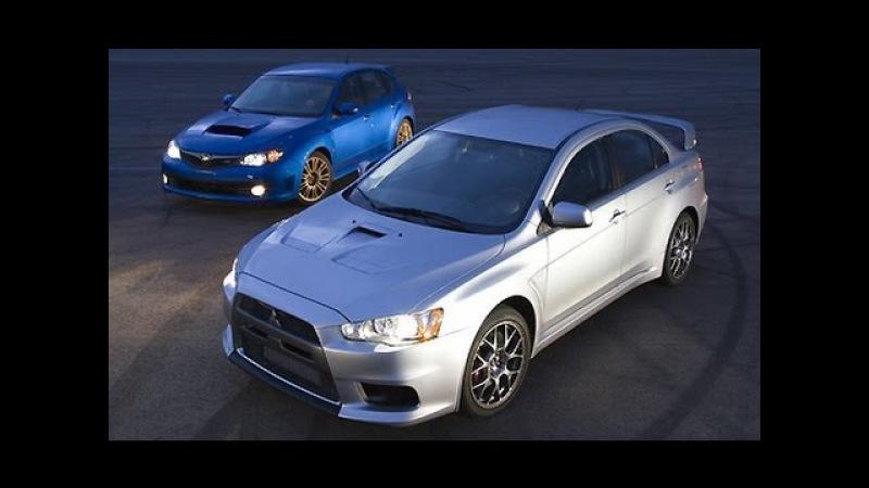 Mitsubishi Lancer X 1.8i vs Subaru Impreza 1.5. Тест драйв