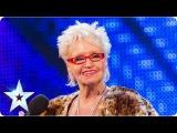 Kelly Fox shocks and rocks! Week 5 Auditions Britain's Got Talent 2013