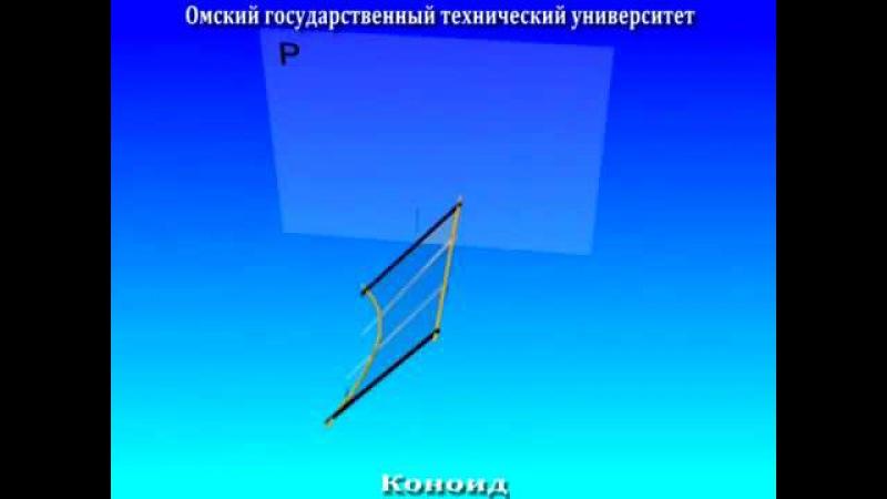 Лекционные анимации Линейчатые неразвертываемые поверхности