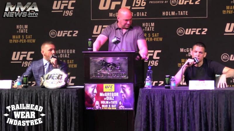 UFC 196 Конор Макгрегор - Нэйт Диаз Пресс-конференция перед боем (Лучшие моменты) - 720x540