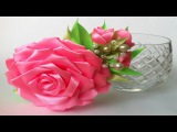 Обруч роза канзаши из атласных лент своими руками. Мастер класс Rose Kanzashi of satin ribbons