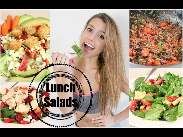 Get Healthy With Me   Lunch Salads!