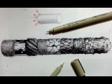 Pen &amp Ink Drawing Tutorials How to create realistic textures (Part 2)