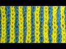 Узоры спицами Двухцветная английская резинка