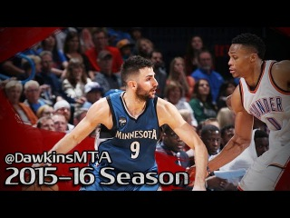 Ricky Rubio vs Russell Westbrook PG Duel 2016.03.11 - Westbrook With 26 Pts, CLUTCH Rubio!