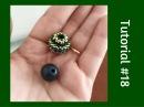 TUTORIAL PERLINE 18 Chicca Bead sfera rivestita con perline Beaded Bead tutorial