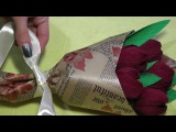 Букет из конфет. Как красиво упаковать цветы