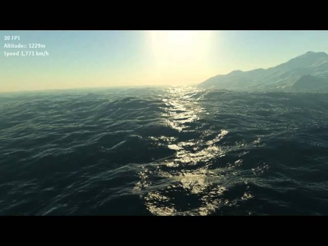 XNA Planet Renderer - Terrain Ocean (Cлушай автор засунь такую анимацю в Google Earth PRO