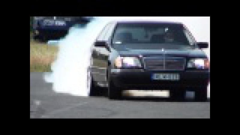 Mercedes S 600 V12 Biturbo 0 270km h acceleration and burnout KO 860