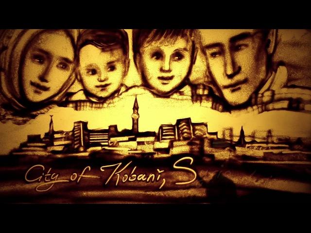 Sand animation film Angel on the Seashore Kseniya Simonova (tribute to Aylan Kurdi)