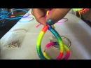 Pulseras y zarcillos neon o fluorescente usando cola de raton y pepas DIY