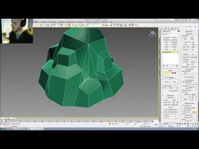 3dsMax - Luos Low Poly Rock
