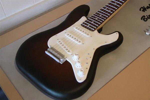 Торты в форме гитары фото