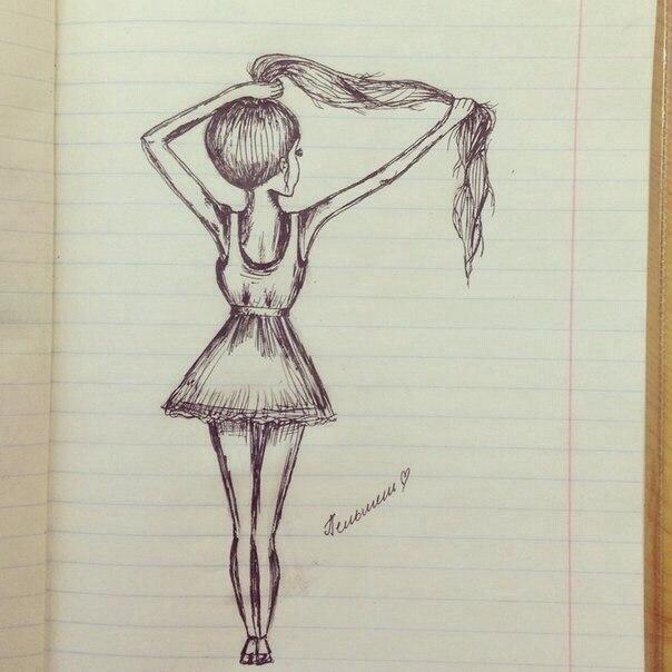 Рисунок легкий для девочек