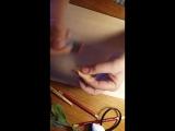 Тонировка лепестка розы сухой пастелью