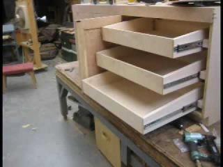 David Termini makes a custom cherry wood cabinet Part B