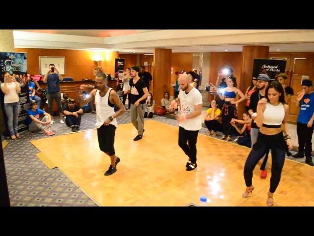 Ataca, Alemana, Daniel, Desiree Juan Matos dance Salsa @ Dubai Latin Fest 2016