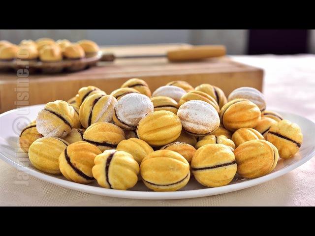 Румынское печенье Орешки с молочно- шоколадной начинкой, с орехами (грецкими) / Nuci umplute | Walnut Shaped Cookies (CC Eng Sub) | JamilaCuisine