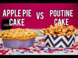 [vk.com/LakomkaVK] How To Make a POUTINE CAKE for CANADA DAY & an APPLE PIE CAKE for INDEPENDENCE DAY!