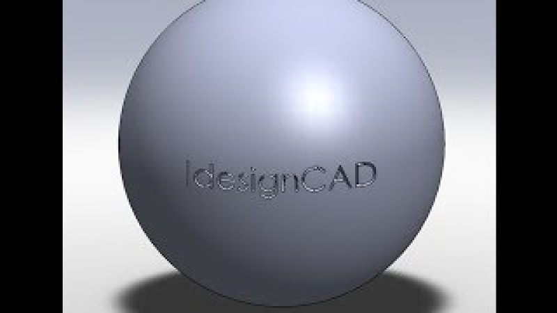 SolidWorks Tutorial: Engrave 3D Text On Sphere Surface