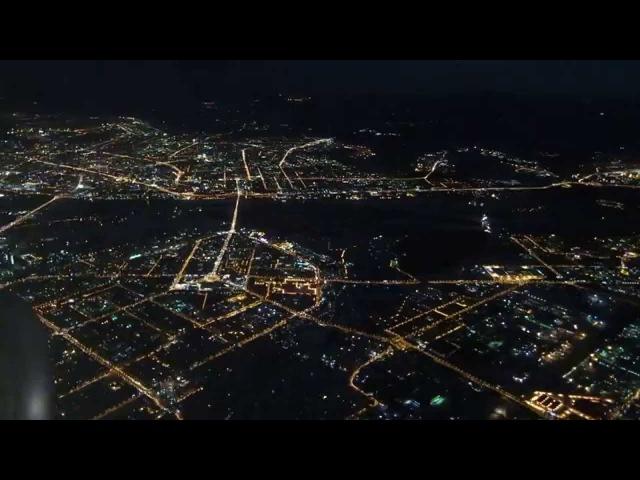 13 03 2014 Ночной Новосибирск c самолета HD