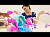 Видео для девочек. Золушка едет на бал! Мультик с игрушками