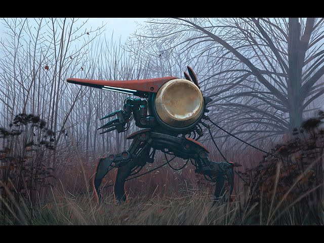 Futuristic Landscapes and Paintings by Simon Stålenhag ( Ambient Chill Music)