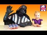 Дарт Вейдер с Вероникой открывают Киндер Сюрприз Звёздные Войны   Kinder Surprise Star Wars