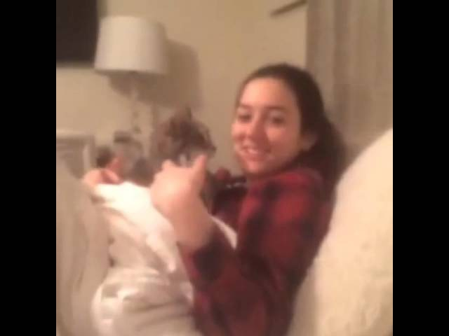 Cat attacks woman over her awful singing