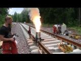 Термитная сварка рельс на железной дороге?(ТБГХ)