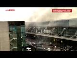 Появилось первое видео с места взрывов в аэропорту Брюсселя
