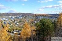 15 октября 2013 - Жигулёвск: Гора Могутовая осенью. Вид на ГЭС и Моркваши